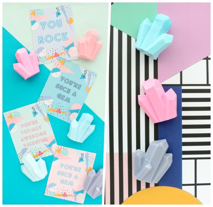 seife selbst herstellen, anleitungen und ideen, seifen edelsteine in bunten farben
