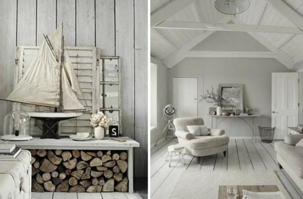 zimmer inspiration - weißes rustikales design
