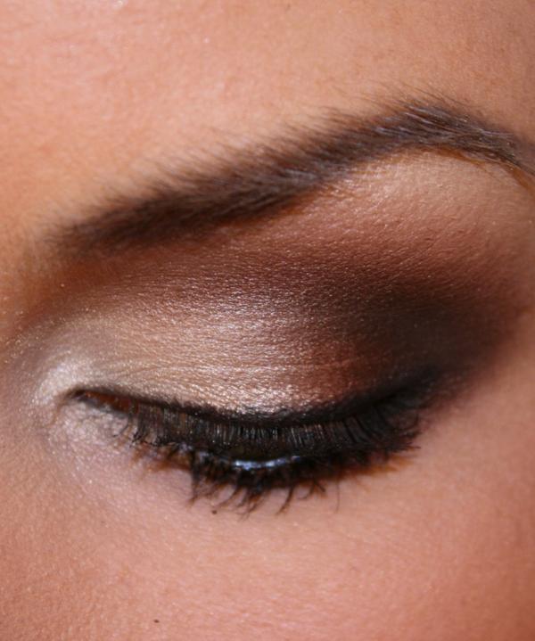 interessantes aussehen - smokey eyes schminken ideen