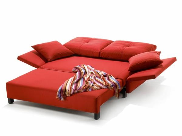 Sofa mit schlaffunktion bequem und super praktisch for Rotes schlafsofa