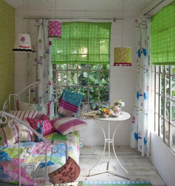 schöne idee zum frühling - frische farben im kinderzimmer