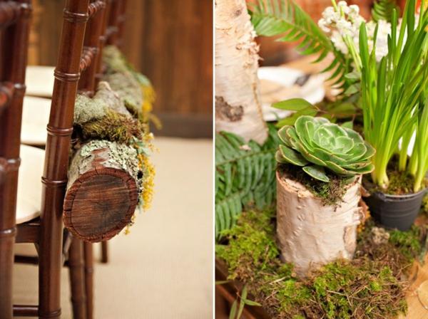 frühling-tisch-holz-dekoration-wald-stylisch-pflanzen