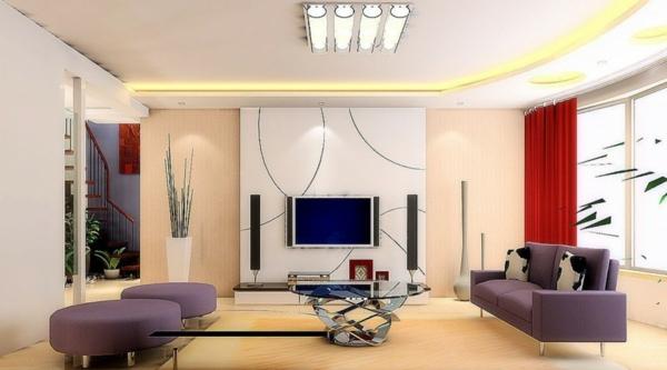 Wandgestaltung Wohnzimmer Fernsehwand Secretstigma