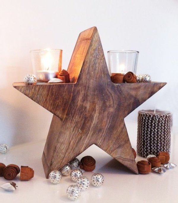 super-Ideen-für-Kerzenständer-Dekoideen-für-die-Wohnung-wie-einen-Stern-gestaltet