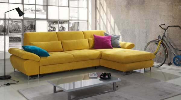 Gelbes Sofa awesome gelbe welche wandfarbe contemporary thehammondreport