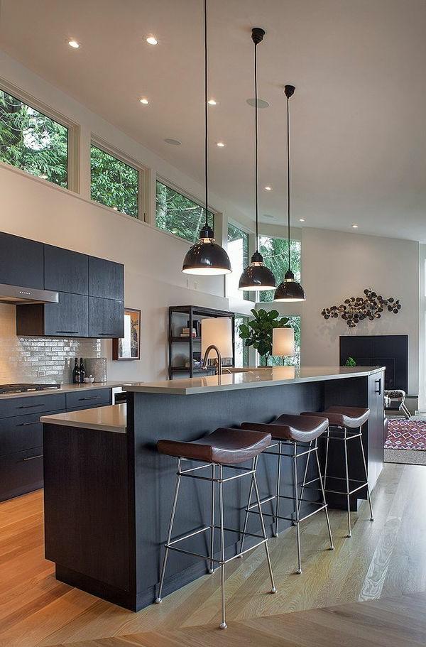 super-coole-küchenbar-fantastische-wohnideen-für-die-küche-kücheninsel-in-schwarz