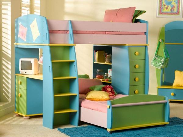 super-farbiges-Stockbett-Design-Idee-für-das-Kinderzimmer
