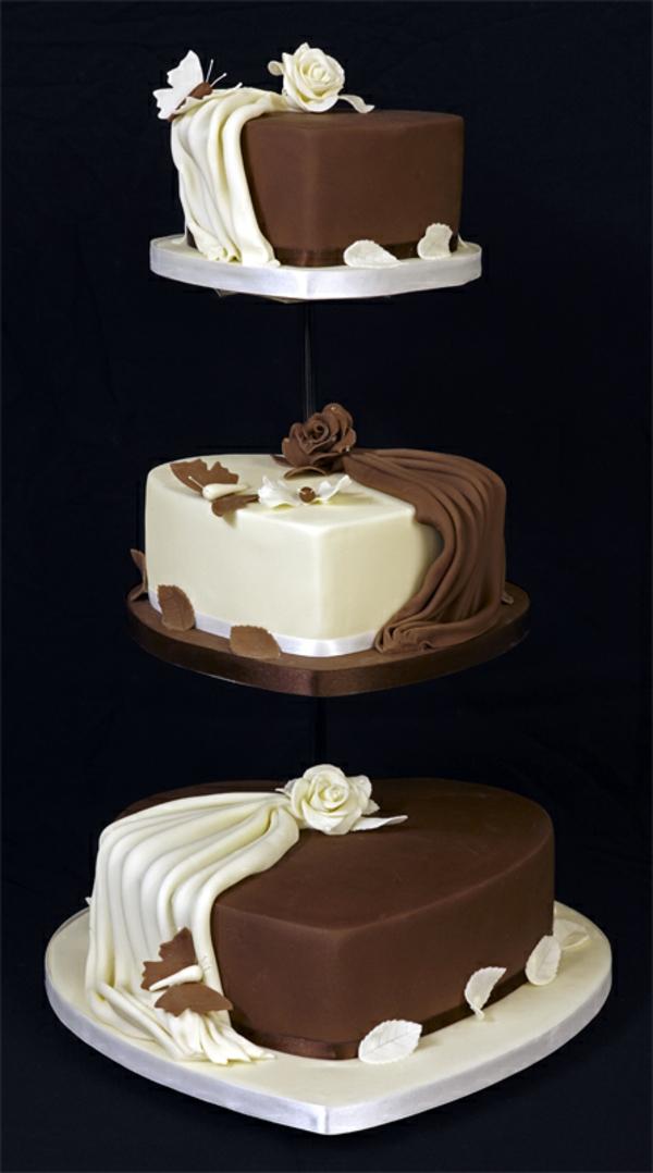 Mehrst ckige torte zur hochzeit 45 ideen - Moderne hochzeitstorten ...