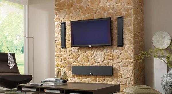 Moderne Fernsehwand - für einen noch angenehmen Filmabend! - Archzine.net