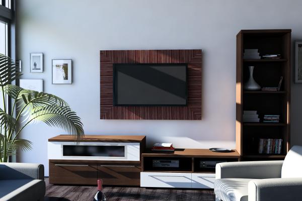 moderne fernsehwand - für einen noch angenehmen filmabend ... - Ideen Fr Tv Wand