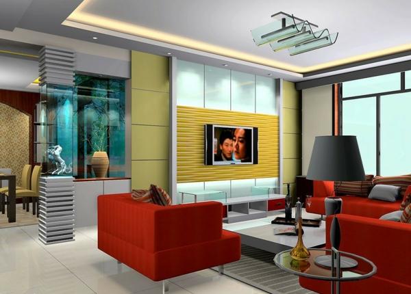 super-moderne-gestaltung-des-fernsehwands-interior-design-ideen-gelb-und-rot