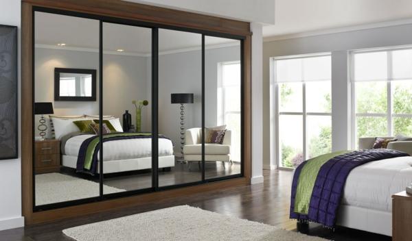 super-moderner-Kleiderschrank-Schiebetüren-Spiegel-modernes-Interior-Design-Wohnideen
