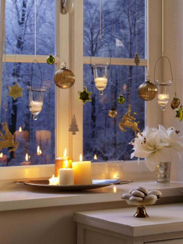 Teelichter bezaubern auch ihr zuhause Dekoration fensterbank innen