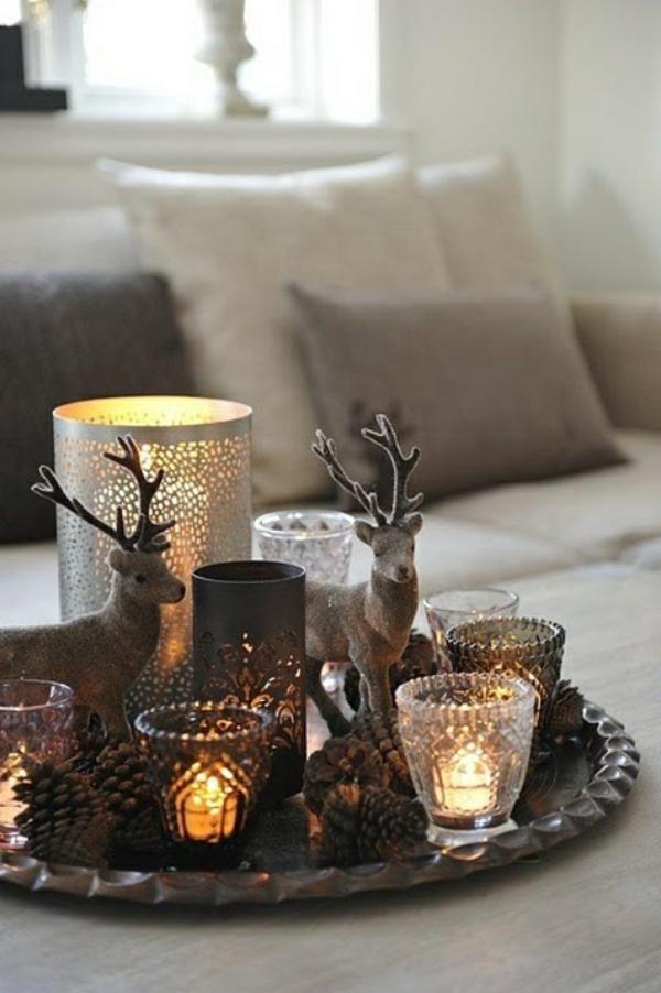 Esstisch Deko Herbst ~ Teelichter bezaubern auch Ihr Zuhause!