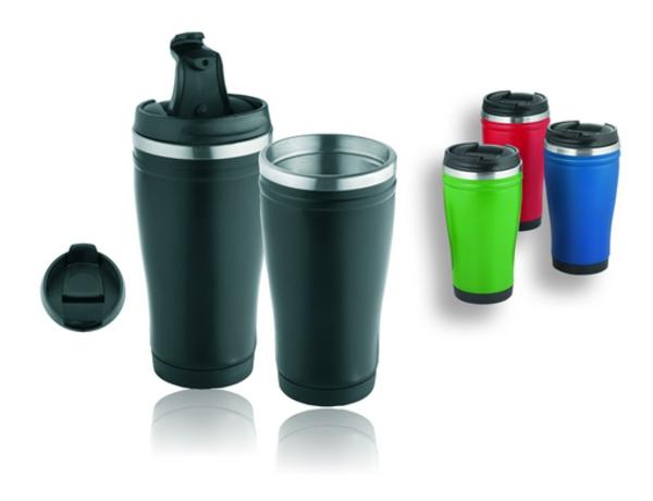 Thermosflasche und Thermotasse  ideal für die frostige