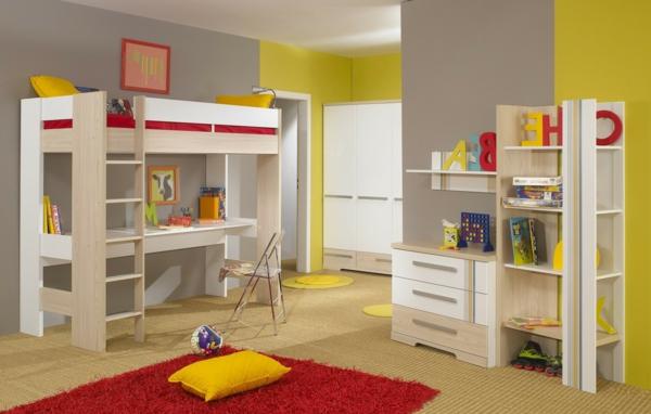 tolles-Jugendzimmer-Hochbetten-mit-super-schönem-Design-Kinderzimmergestaltung