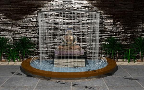 ultramodernes-design-vom-Buddha-Brunnen