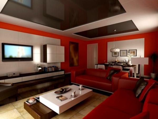 wohnzimmer weis rot ~ kreative deko-ideen und innenarchitektur, Moderne deko