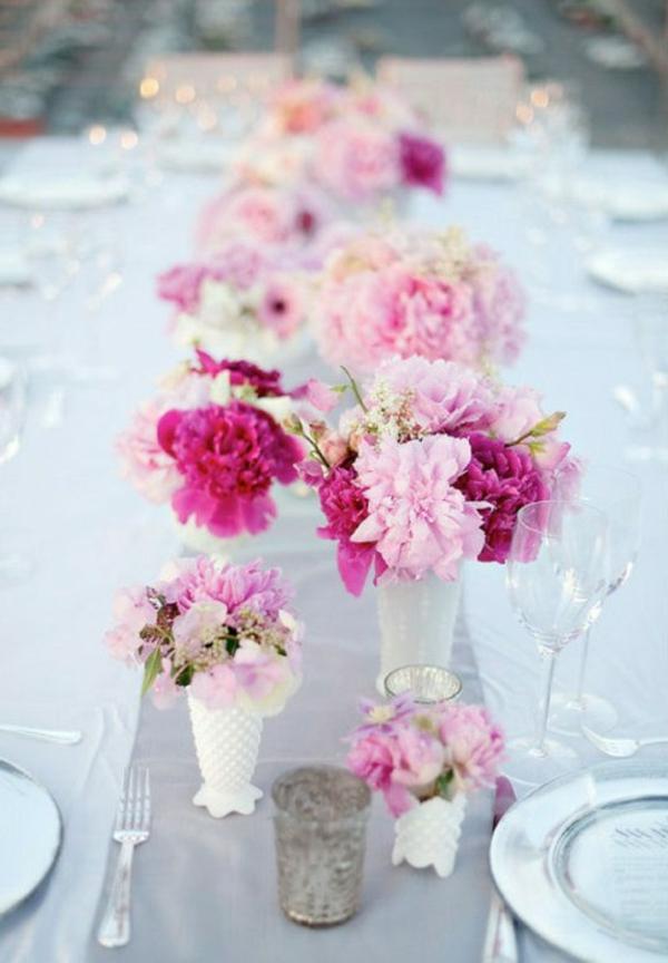 Tischdeko frühlingsblumen hochzeit  Tischdeko Frühling - 100 bezaubernde Ideen zum selber machen ...