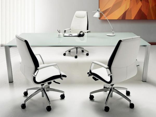 weiße-Bürostühle-mit-schönem-Design-Interior-Design-Ideen