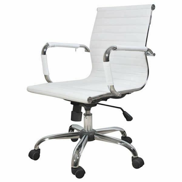 weißer-bequemer-Bürostuhl-elegantes-Modell-Büromöbel
