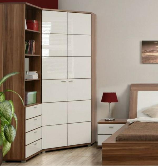 Eckschrank im schlafzimmer eine kluge idee - Eckschrank wohnzimmer modern ...