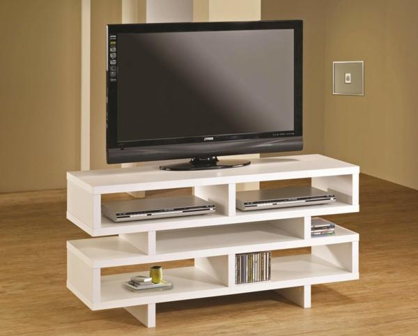weißes-Modell--Schrank-aus-Holz-mit-modernem-Design
