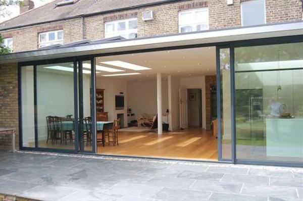 wohnidee-glastür-zum garten-design-idee
