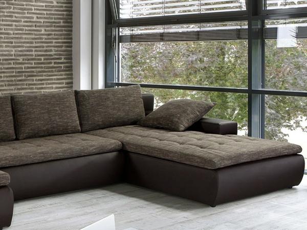 Sofa mit schlaffunktion bequem und super praktisch - Wohnideen braun ...