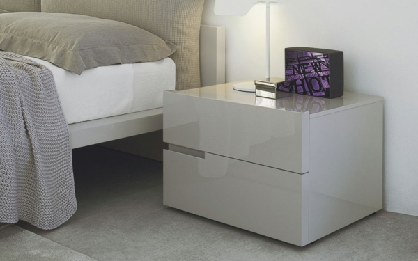 moderner nachttisch f rs schlafzimmer. Black Bedroom Furniture Sets. Home Design Ideas