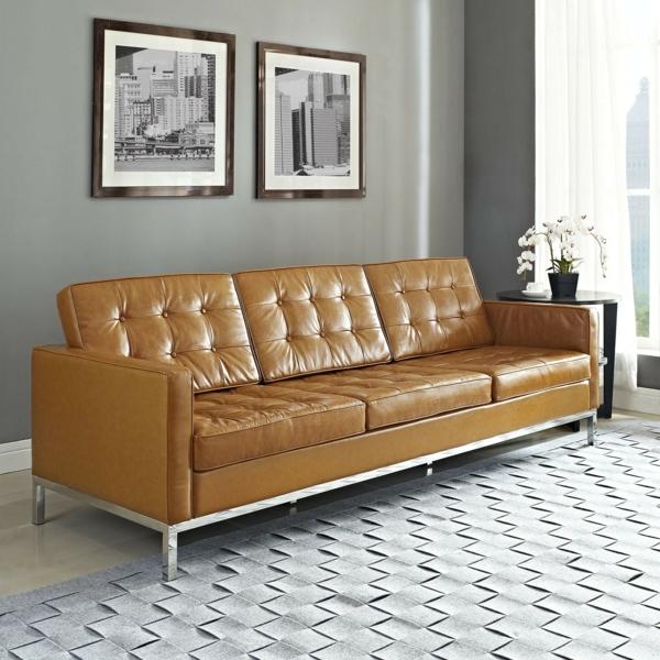 Wohnzimmer Einrichten Ledercouch Design