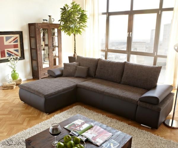 wohnzimmer-einrichten-ledercouch-design-bequeme-couch-braun-schöne-einrichtungsideen-für-das-wohnzimmer