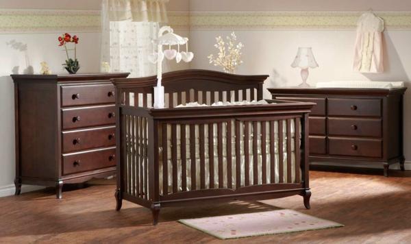 Babybett Holz Dunkel
