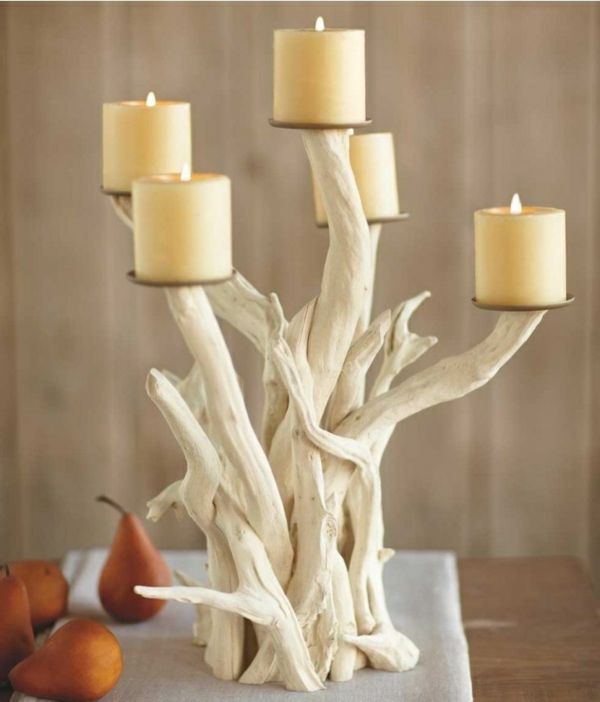 wunderschöner-Treibholz-Kerzenhalter-als-eine-tolle-Dekoration-für-Zuhause