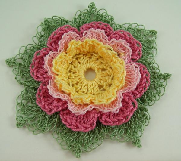 Blumen häkeln - viele schöne farben kombinieren