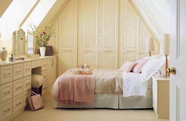 schlafzimmer imlandhausstil - in einer dachwohnung