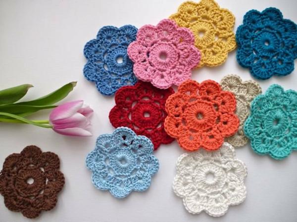 Blumen häkeln: 39 tolle Vorschläge! - Archzine.net