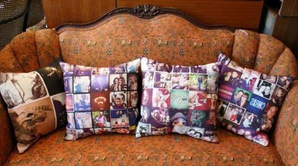 Kissen bedrucken - sehr interessante modelle auf einem sofa