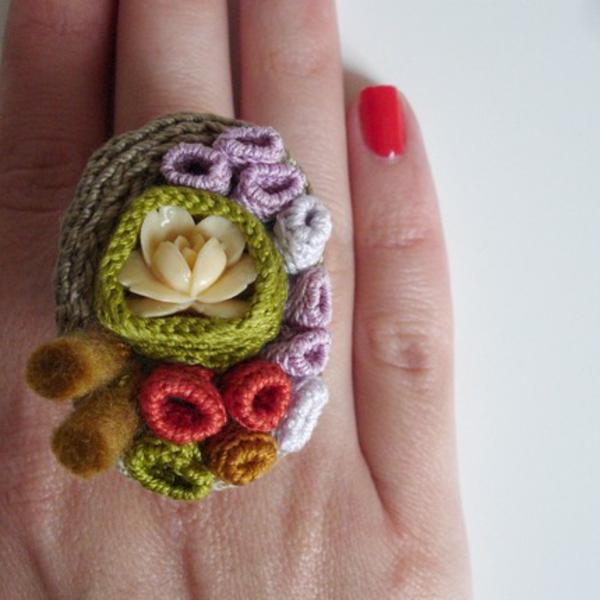 Blumen häkeln - auf dem finger