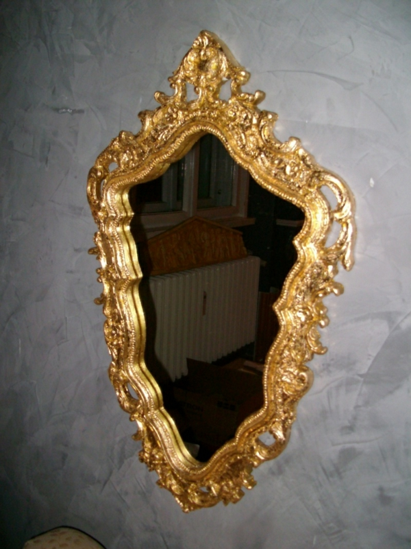 barockspiegel - sehr interessante form und goldene gestaltung