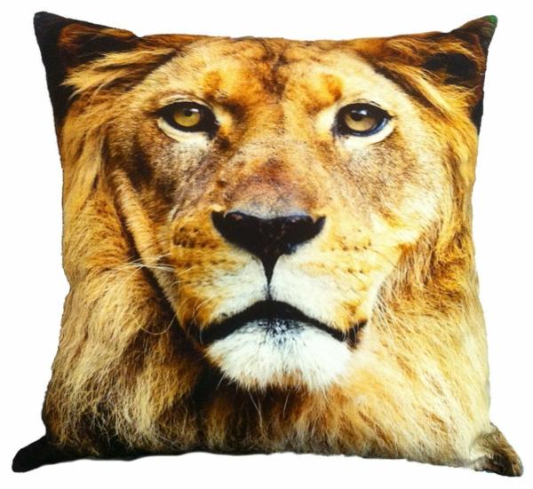 Kissen bedrucken - super schönes design mit einem löwe-gesicht