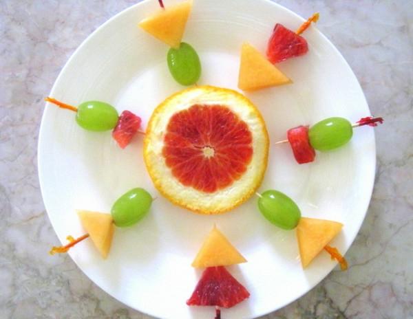 exotischesobst dekoration -  cooles frühstück machen