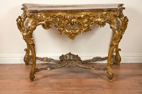 barock tisch - spiegeltisch mit vielen ornamenten