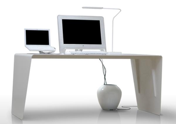 designerschreibtisch - weiße ultramoderne gestaltung