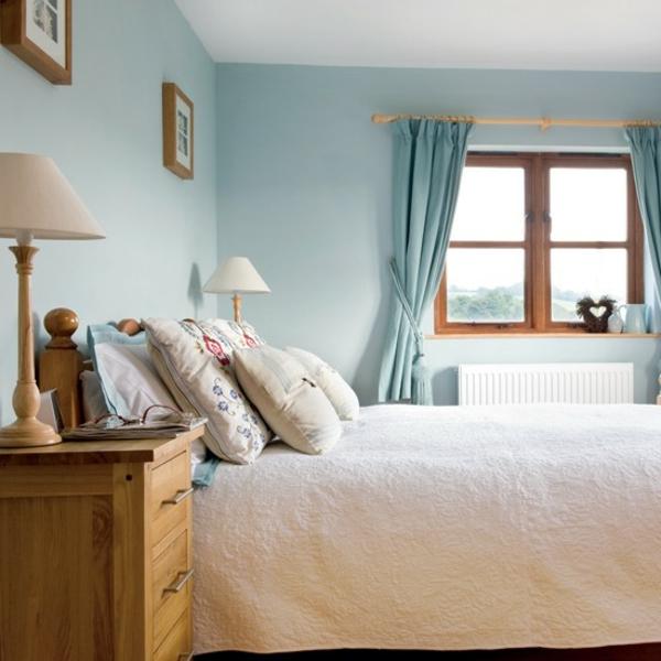 Landhausstil schlafzimmer blau  Landhaus schlafzimmer gardinen ~ Übersicht Traum Schlafzimmer