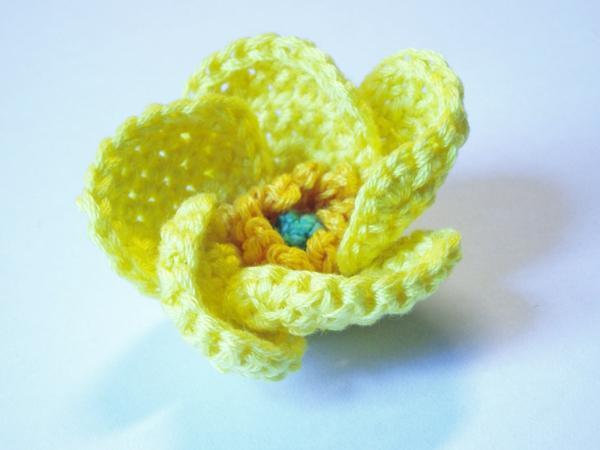 Blumen häkeln - gelbes modell-sehr schön