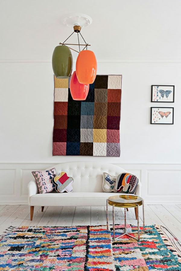 Teppich in bunten Farben - interessantes wohnzimmer gestalten