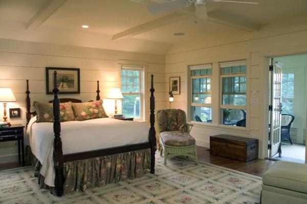 schlafzimmer imlandhausstil - schöne deckenleuchten