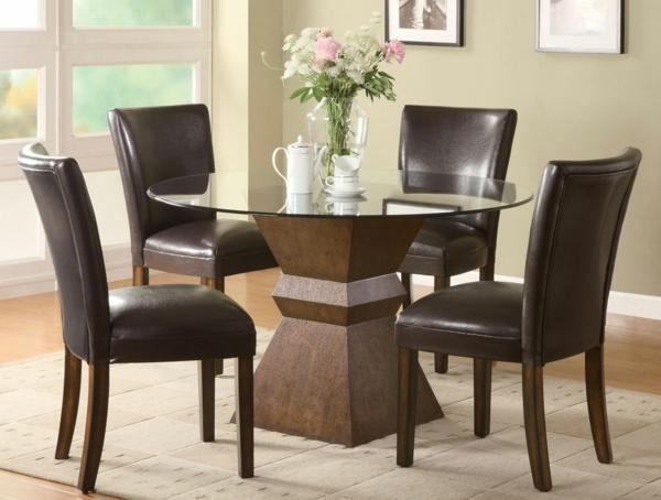modern aussehende braune lederstühle für esszimmer