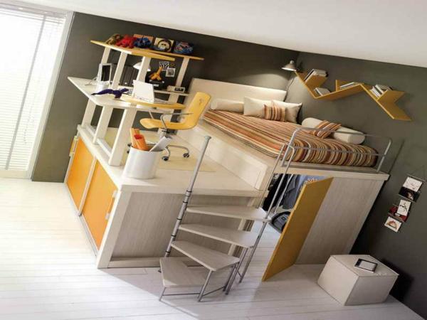 Vorschlage Gestaltung Kinderzimmer : Hochbett mit Schreibtisch neue tolle Vorschläge!